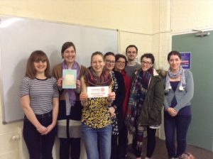 Becci pictured with Oxford Rotaract members