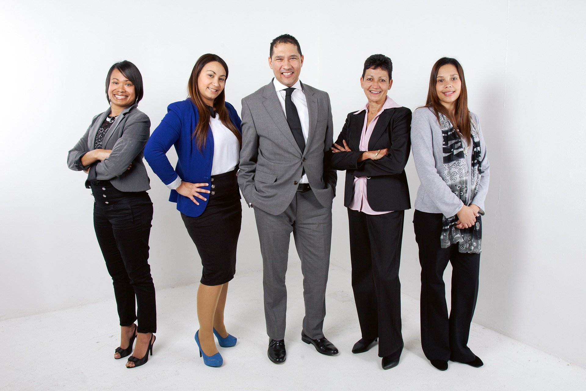 Group of young professionals doing good in their community